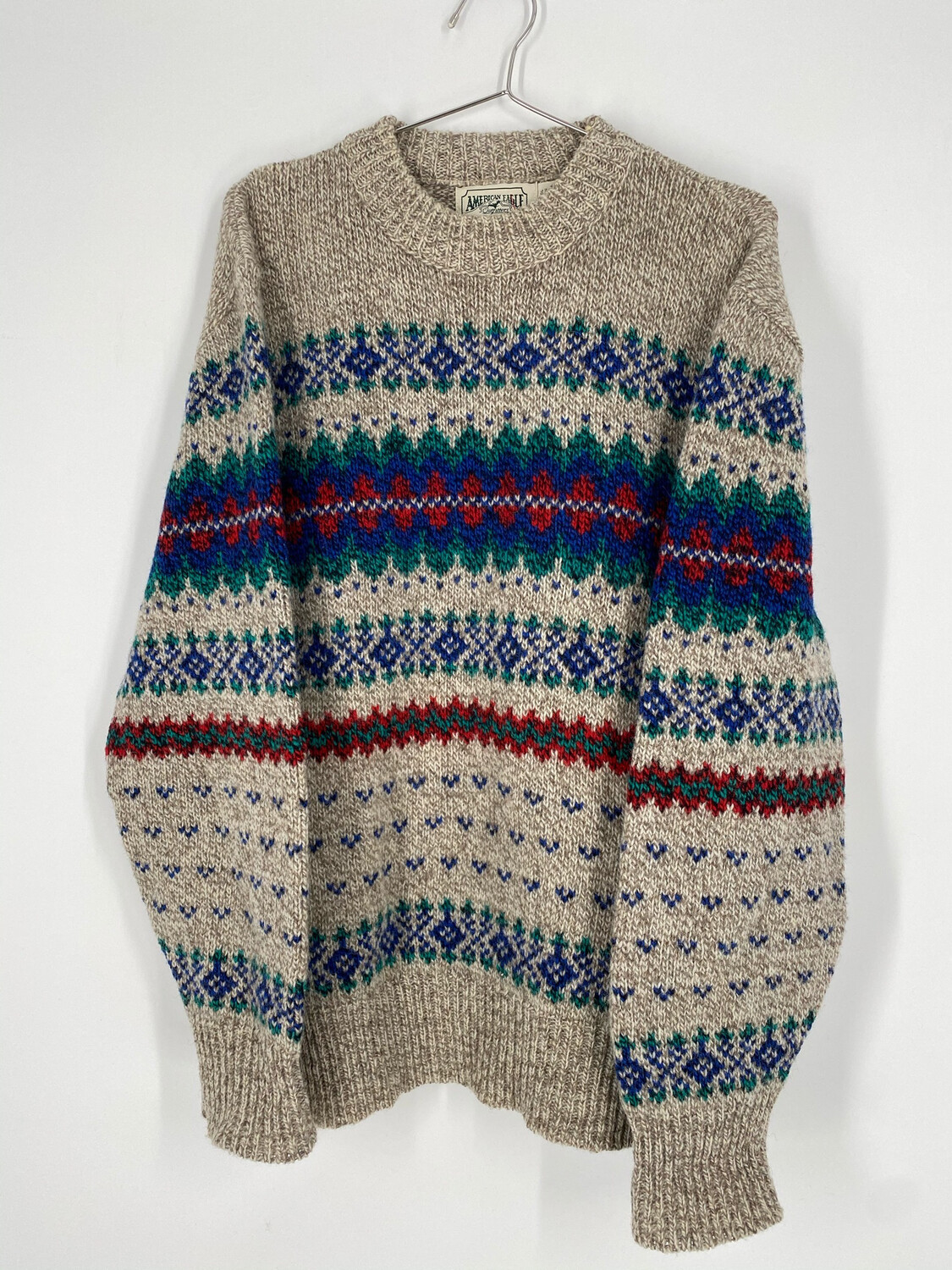 American Eagle Outfitters Vintage Wool Printed Sweater Size L