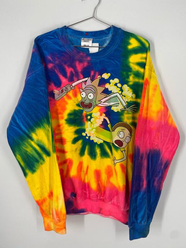 Rick And Morty Tye Dye Sweatshirt Size L