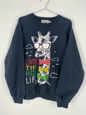 Livin The High Life Crewneck Sweatshirt Size M