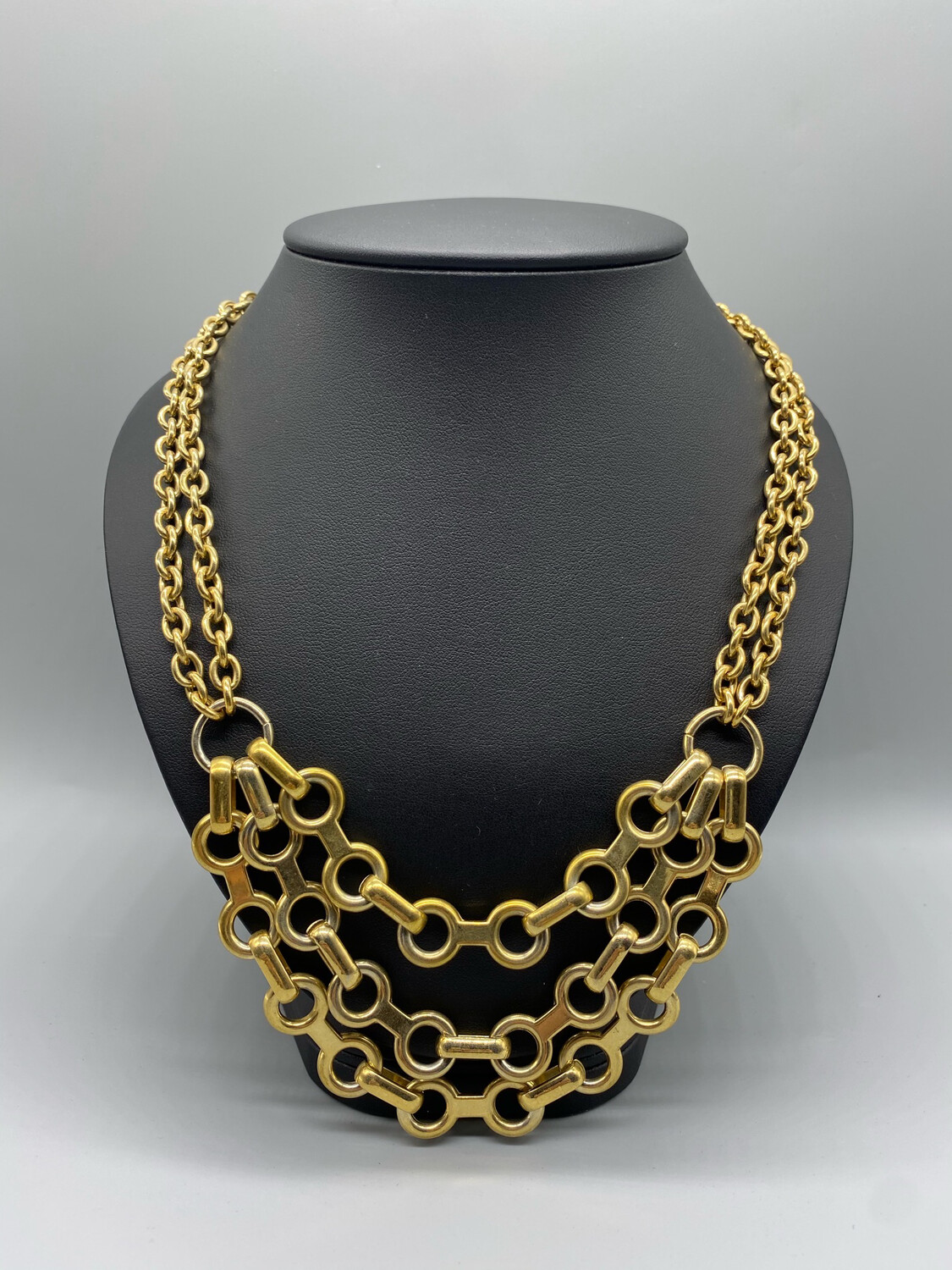 Vintage Circle Gold Chain Necklace