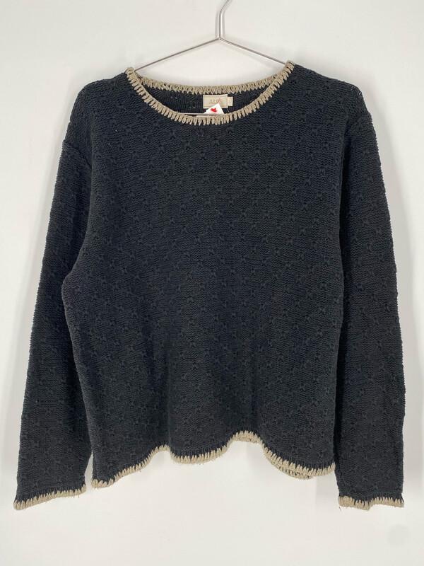 ALPS Grey Knit Sweater Size L