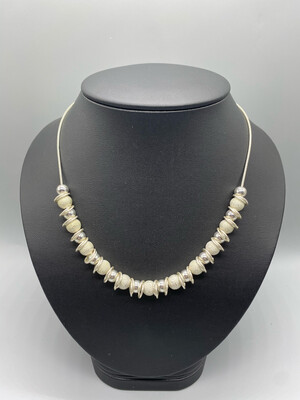 Silver Beaded Adjustable Necklace
