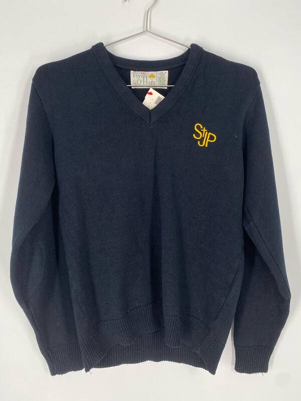 Flynn & O'Hara Vintage Stjp V-Neck Sweater Size S