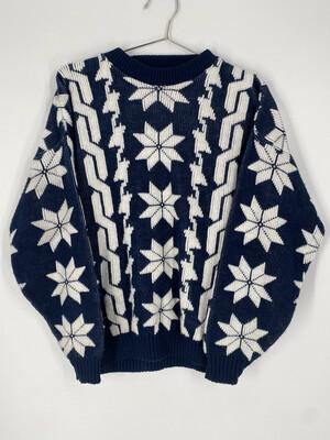 Cabin Creek Vintage Printed Sweater Size L