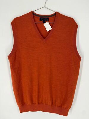 Vintage Brooks Brothers Orange Sweater Vest Size M