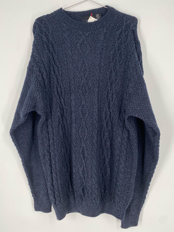 Bill Blass Cableknit Navy Vintage Sweater Size L