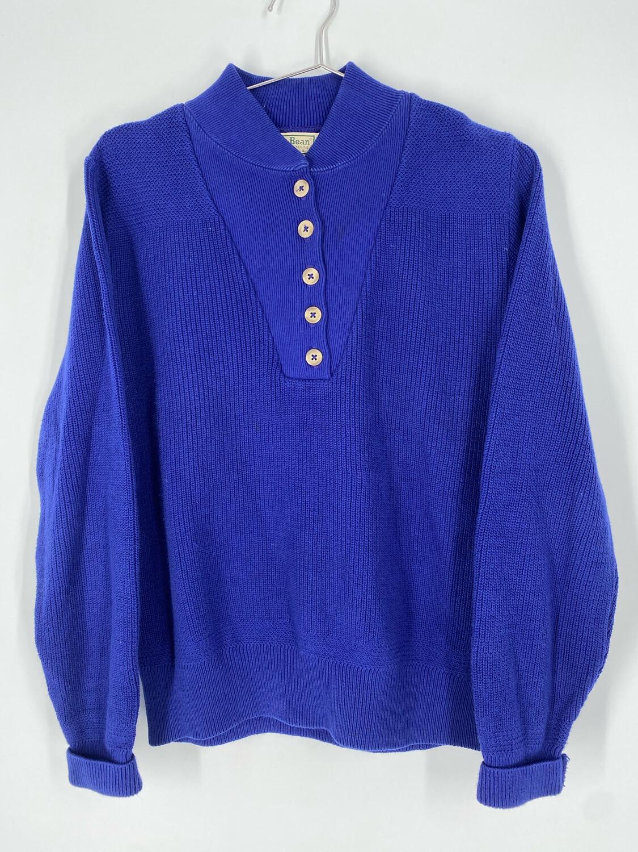 Vintage L.L. Bean Navy Button Up Sweater Size S