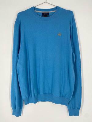 "Brooks Brothers ""346"" Vintage Crewneck Blue Sweater Size M"