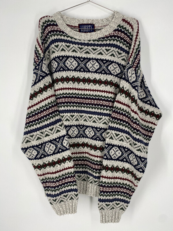 LIBERTY Vintage Printed Sweater Size L
