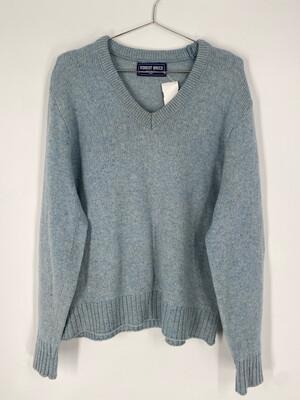 Robert Bruce Baby Blue V-Neck Sweater Size M
