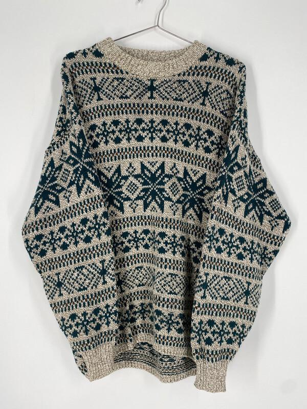 Lake Harmony Vintage Printed Sweater Size M