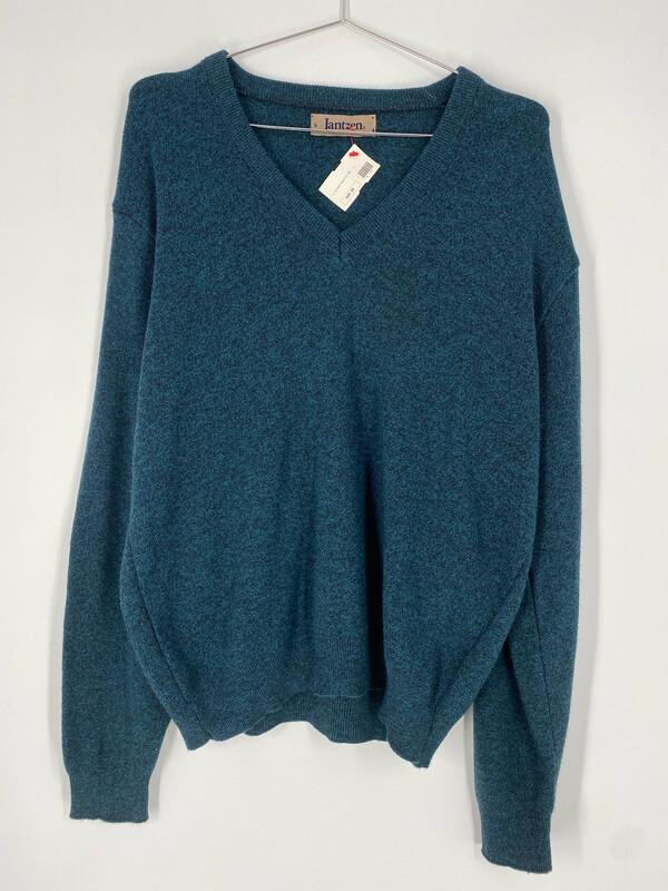 Jantzen Teal V-Neck Sweater Size L