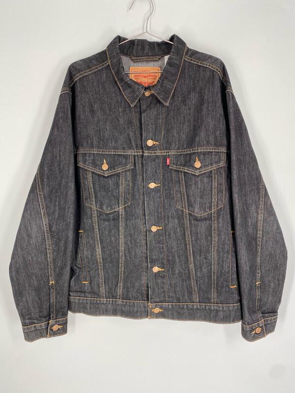 Levi's Dark Wash Standard Trucker Vintage Denim Jacket Size   XL