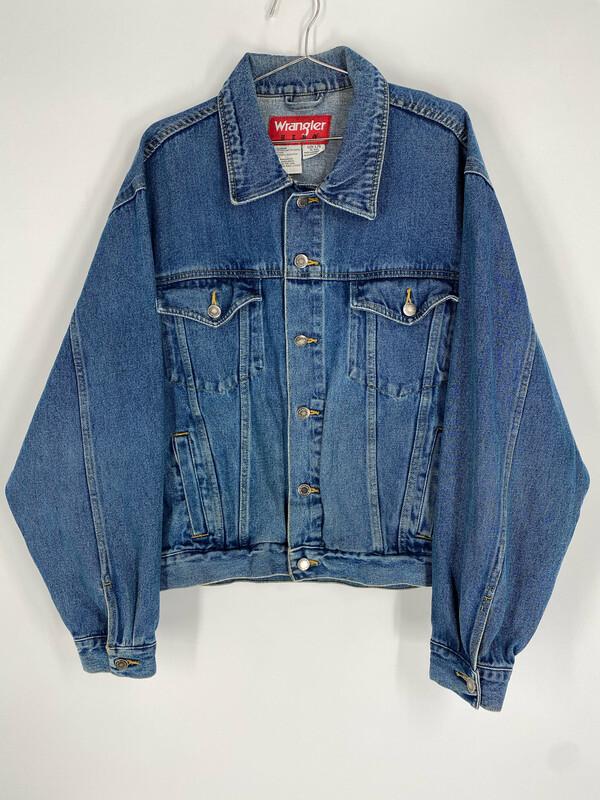 Wrangler Hero Medium Wash Denim Jacket Size L