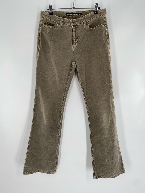 DKNY Jeans Green Corduroy Jeans Size  M