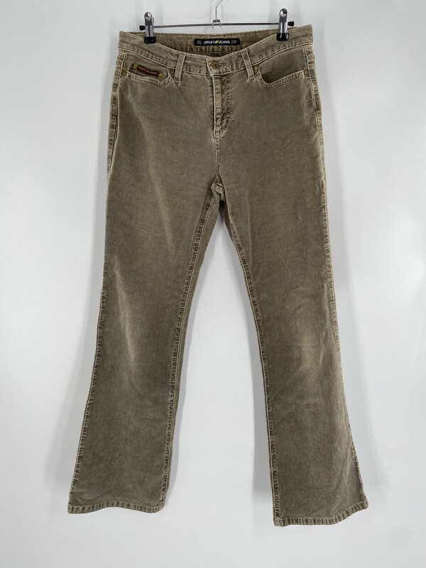 DKNY Jeans Green Corduroy Jeans Size  M