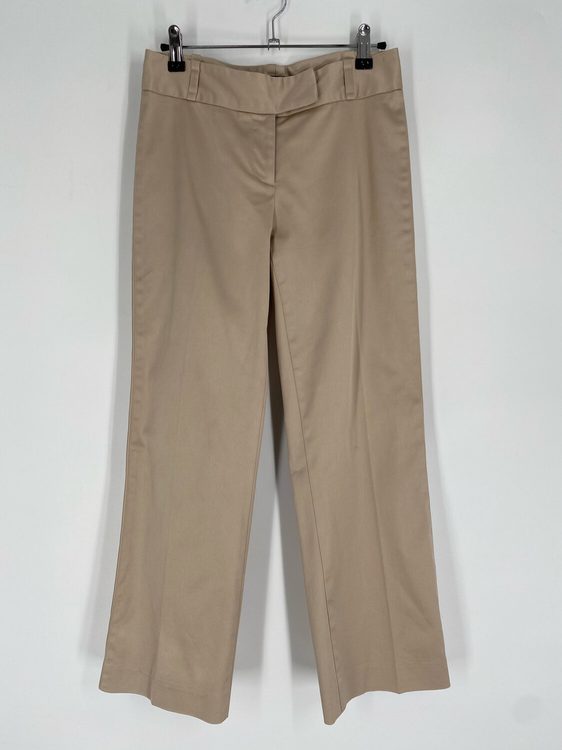 Bebe Low-Rise Silky Tan Flare Pants Size 0