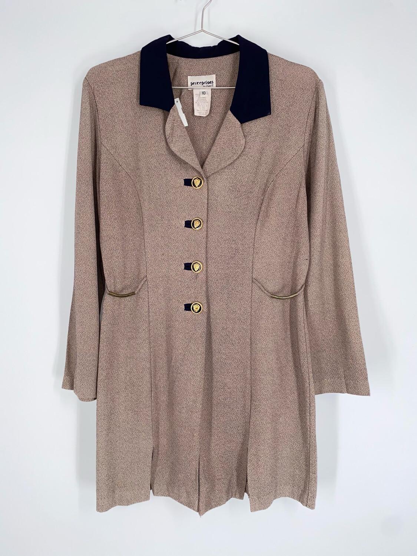 Perceptions Beige Blazer Dress Size M