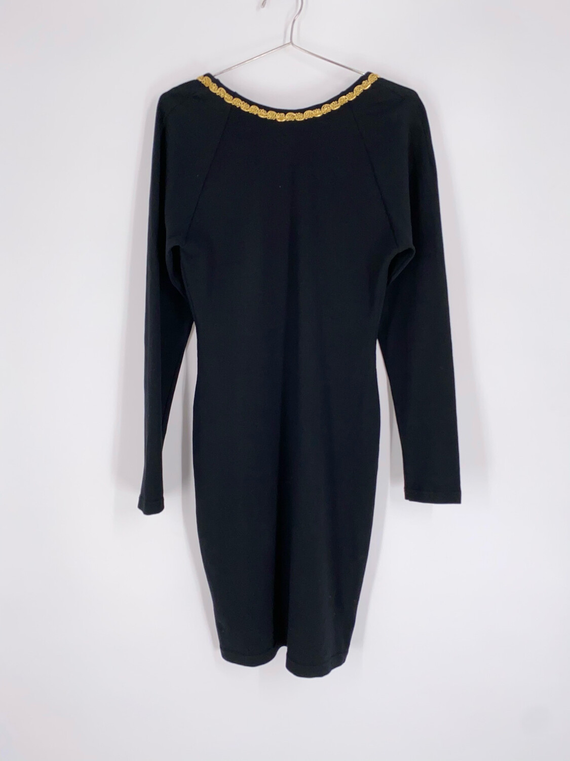 Yes Clothing Co. Black Mini Dress With Gold Trim Size S