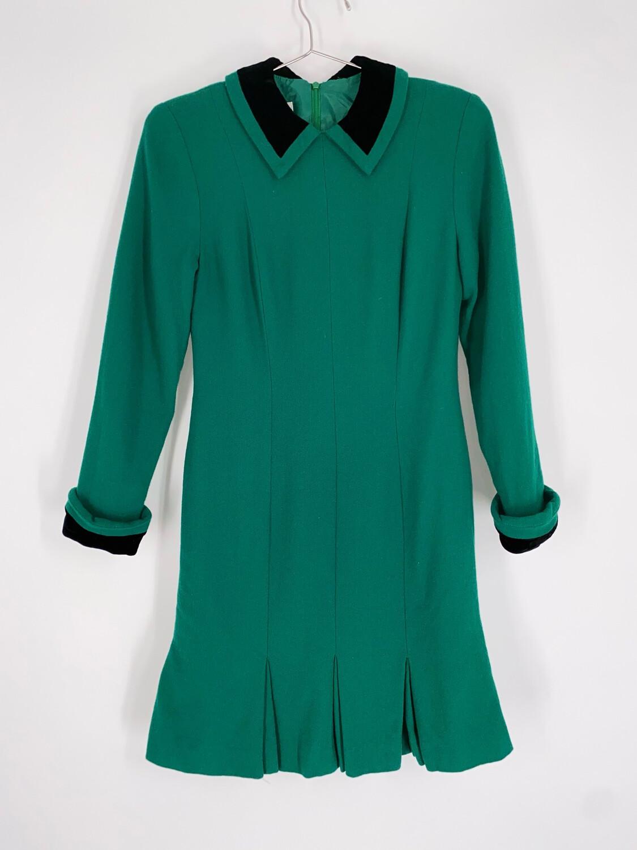 Jones New York Emerald Green Mini Dress Size