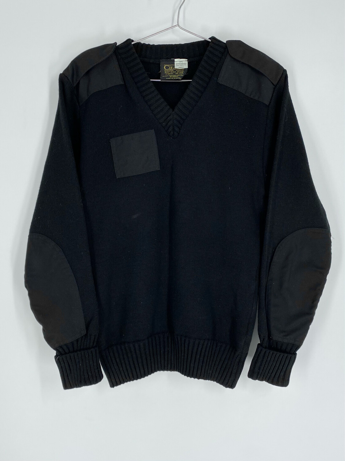 Citadel Black Patch Sweater Size S