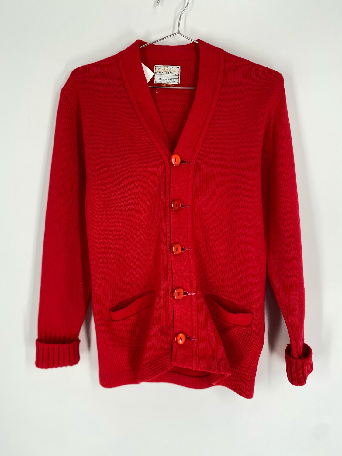 Retro Red Cardigan Size S