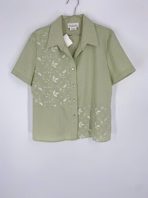Pride & Joy Pastel Green Button Up Top Size L