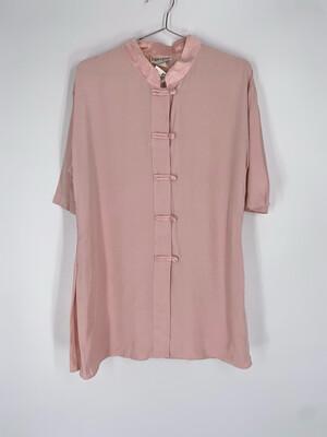 Pride & Joys Pink Mock Collar Top Size L