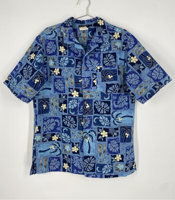 Doc & Amelia Hawaiian Short Sleeve Button Up Size L