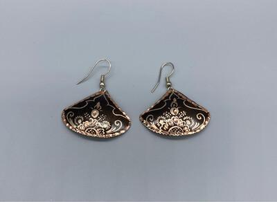 Copper Wire Embossed Earrings