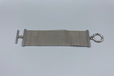 Silver Chainmail Thick Bracelet