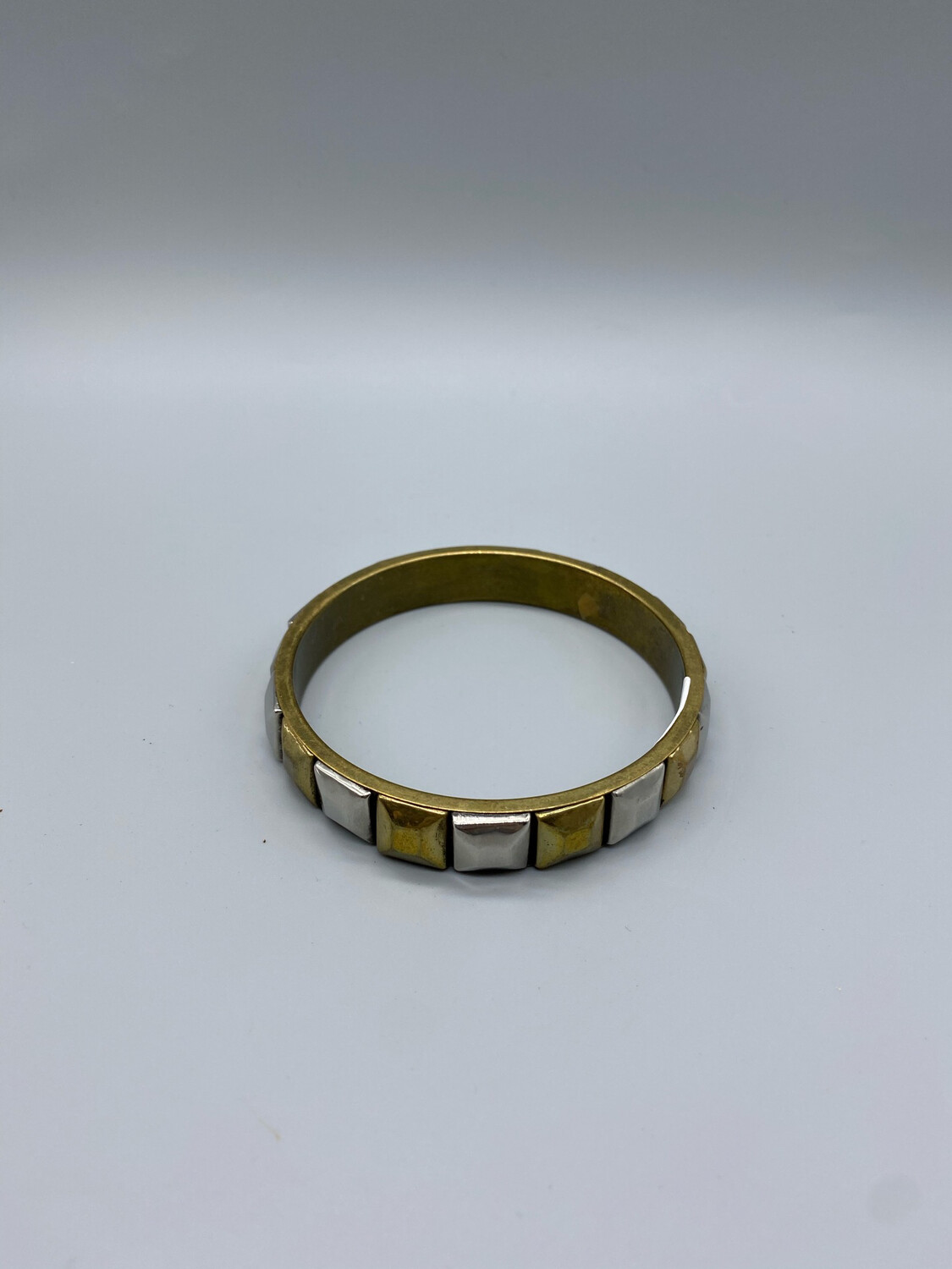 Gold And Silver Mirrored Bangle