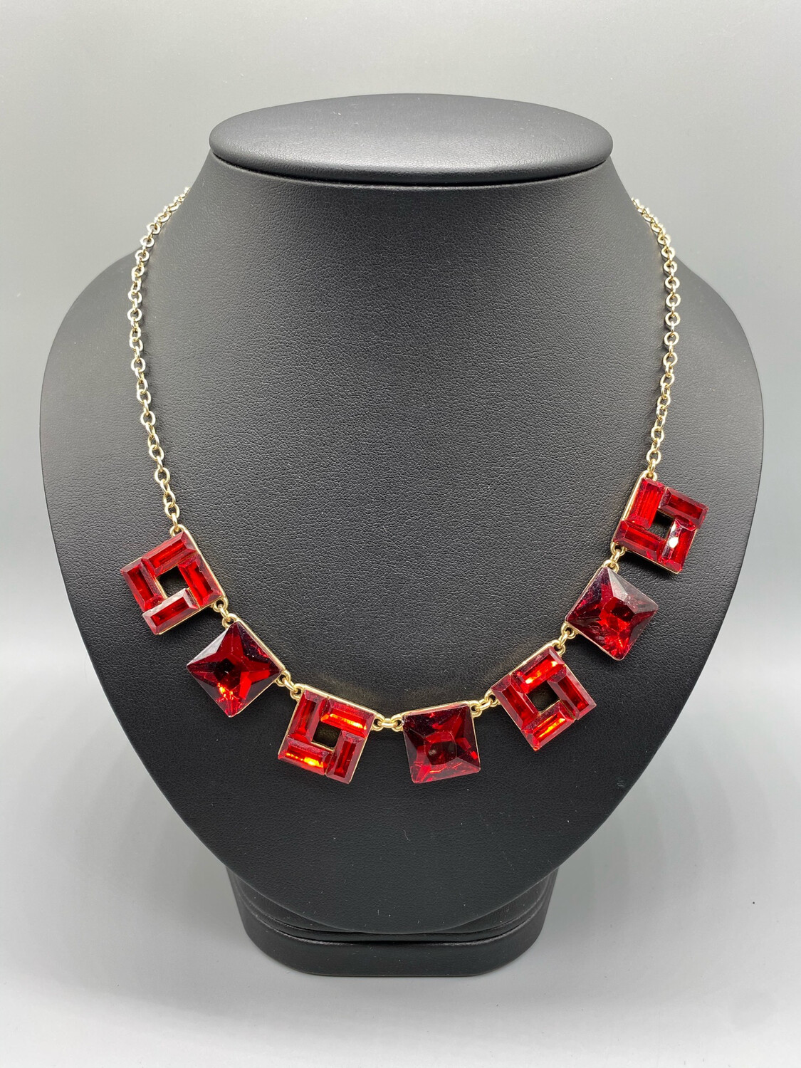Vintage Gold And Red Necklace