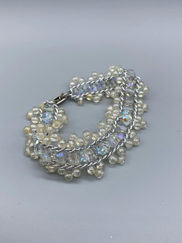 Vintage Iridescent Beaded Bracelet