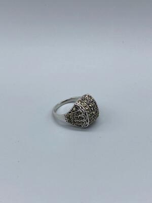 Gunmetal Rhinestone Ring Size 10
