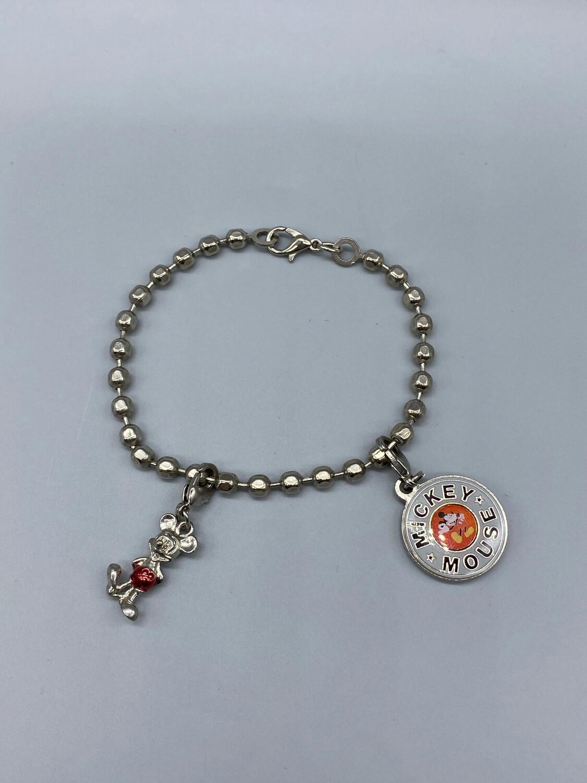 Silver Mickey Mouse Charm Bracelet