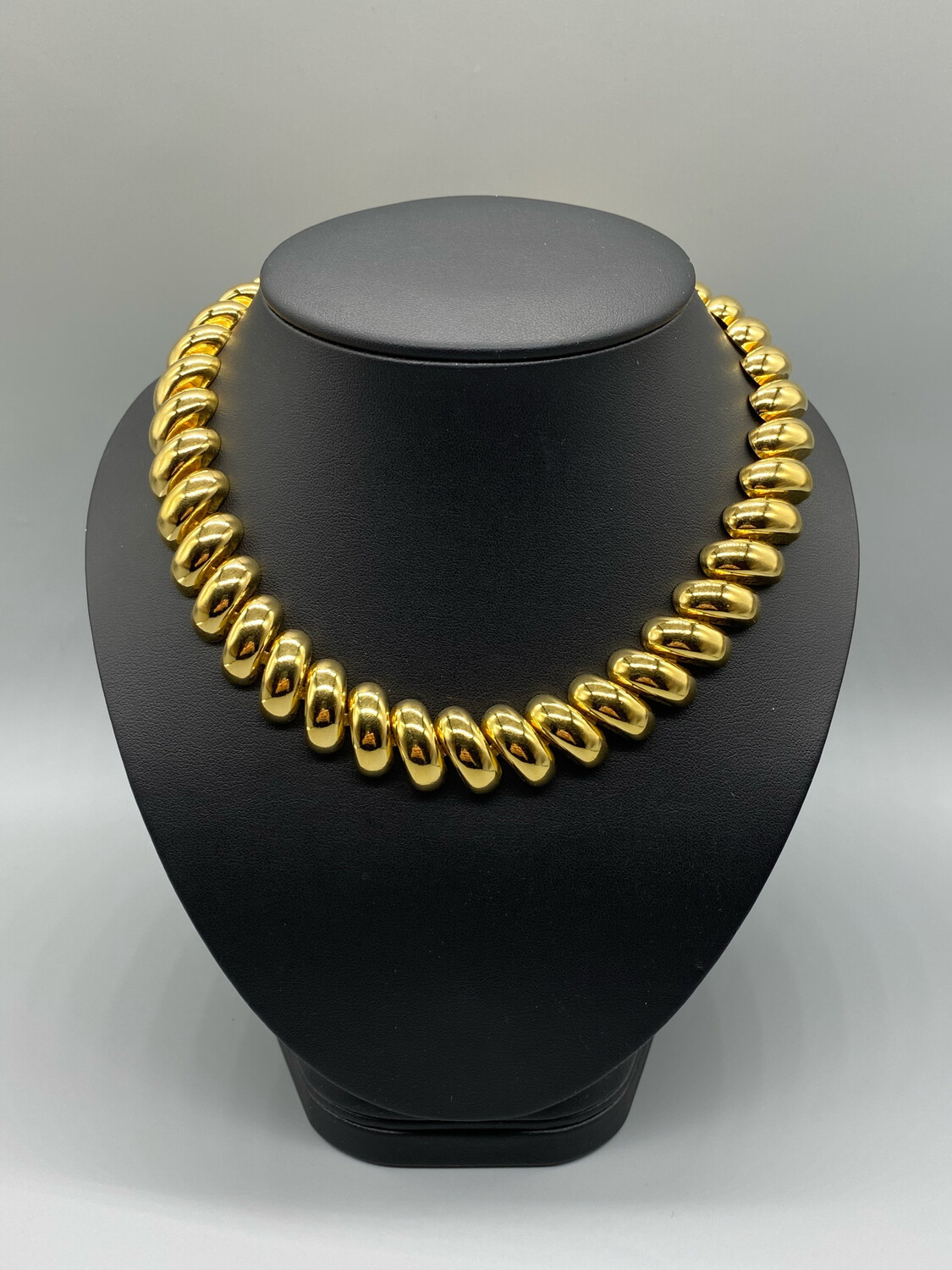 Vintage Thick Gold Collar Necklace