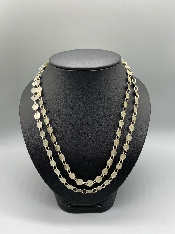 Vintage Silver Dual Strand Necklace