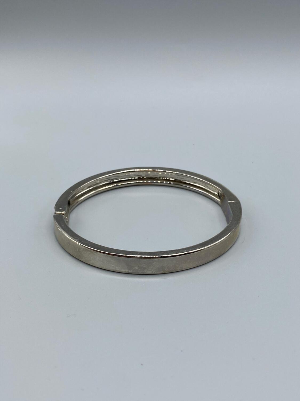 Silver Minimal Bangle Bracelet