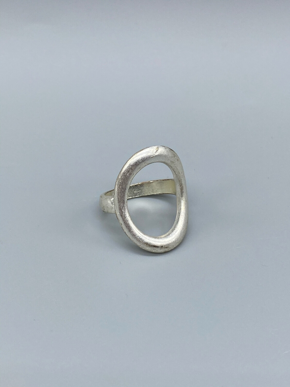 Silver Circle Ring Size 8.5