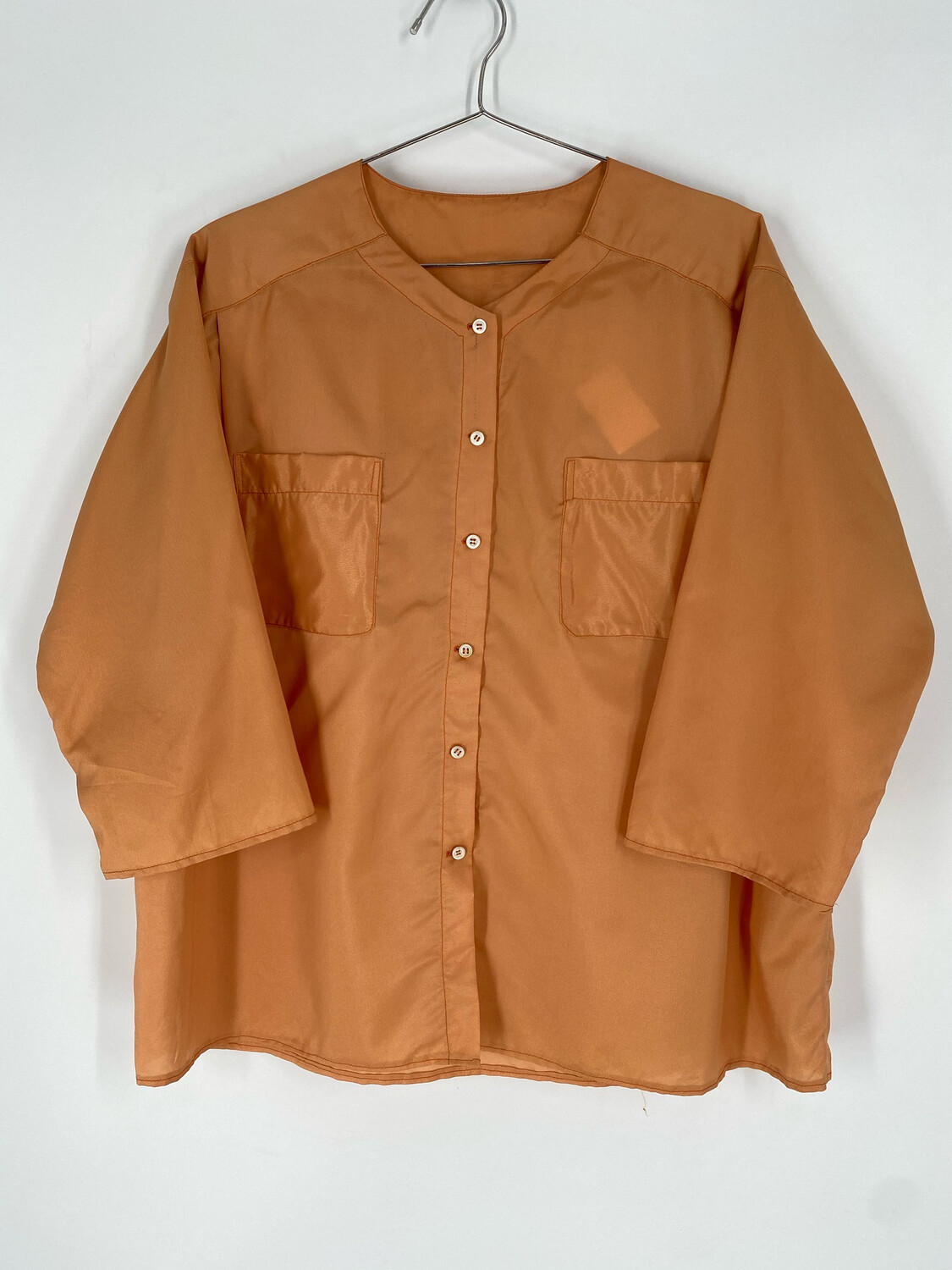 Burnt Orange Long Sleeve Button Up Size XL