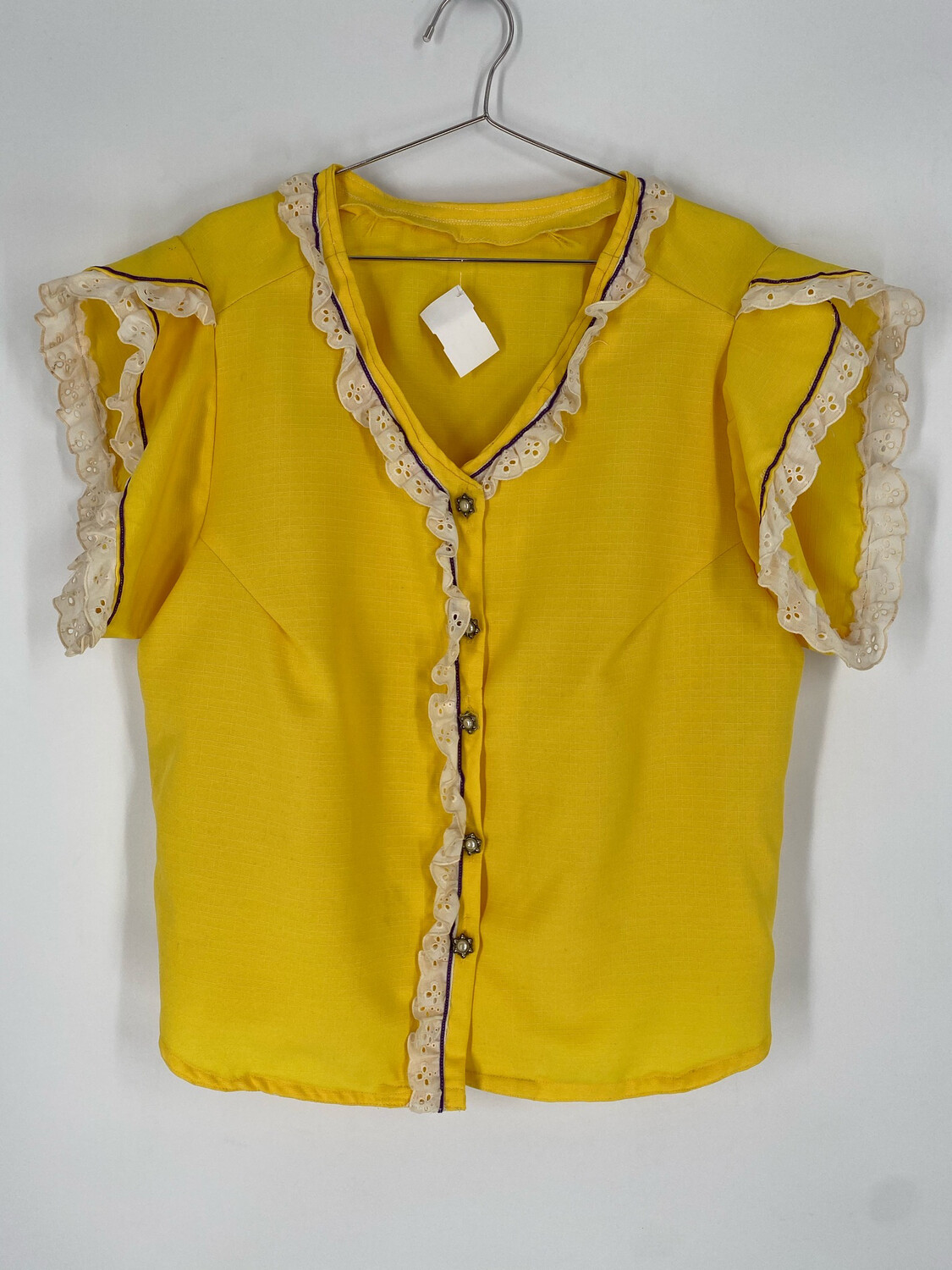 Vintage Yellow Button-Up Size XL