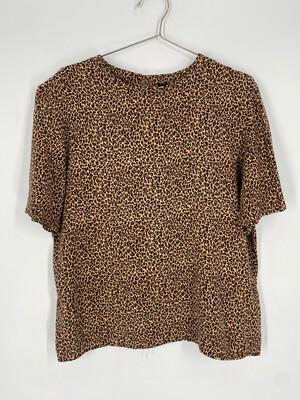 Panther Cheetah Print Top Size L