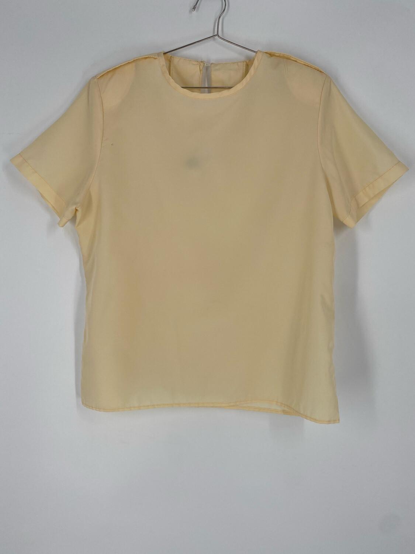 Cream Vintage Short Sleeve Top Size XL