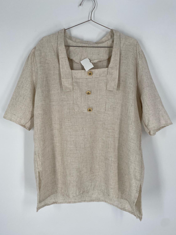 Vintage Short Sleeve Cream Top Size XL