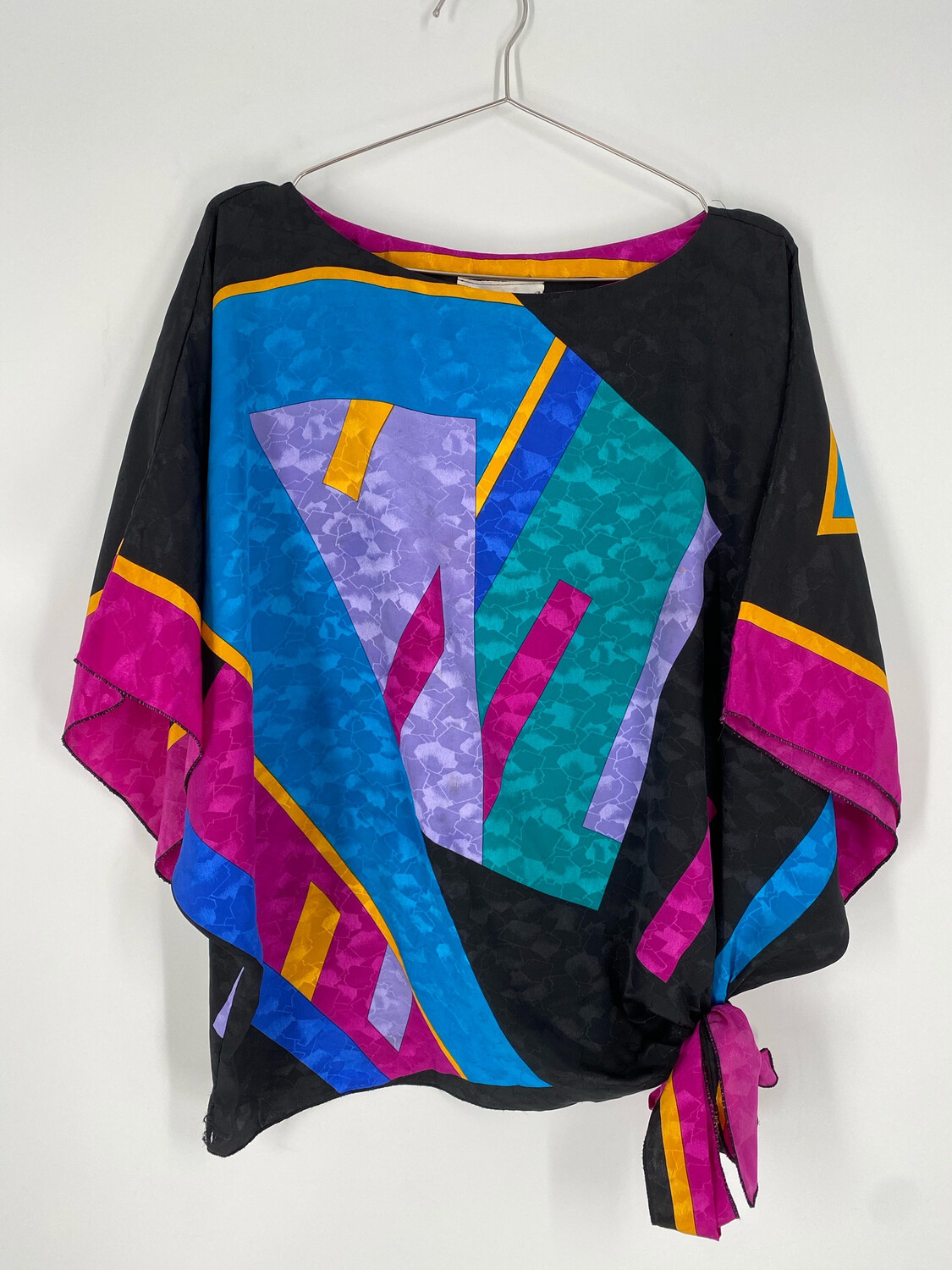 La Chemise Multi Color Butterfly Sleeve Top Size XL