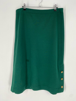 Cape Cod Match Mates Green Vintage Skirt Size 18