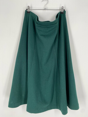 Wardrobe Maker Vintage Green Skirt Size 20