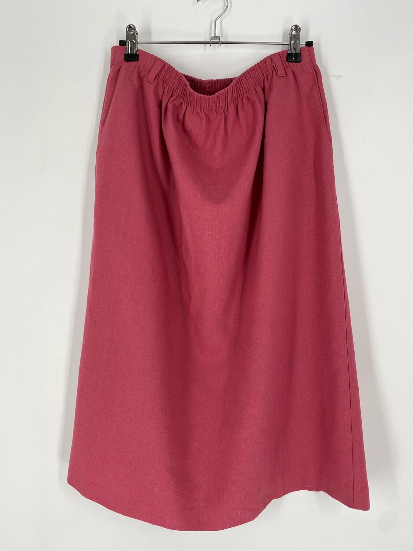 Alfred Dunner Elastic Waist Pink Skirt Size 14