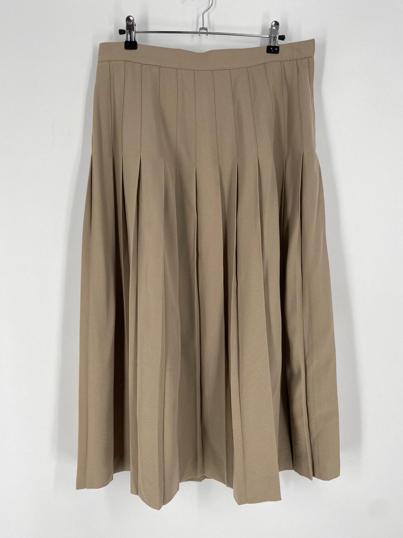 Austin Reed Petite Pleated Tan Skirt Size 14